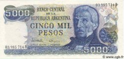 5000 Pesos ARGENTINE  1983 P.305b NEUF