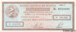 100000 Pesos Bolivianos BOLIVIE  1984 P.188 NEUF