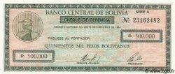 500000 Pesos Bolivianos BOLIVIE  1984 P.189 NEUF