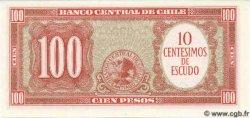 10 Centesimos sur 100 Pesos CHILI  1961 P.127 NEUF