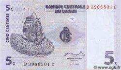 5 Centimes CONGO  1997 P.-- NEUF