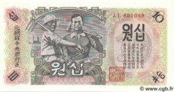 10 Won CORÉE DU NORD  1947 P.10Ab NEUF