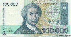 100000 Dinara CROATIE  1993 P.27 NEUF