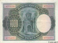 1000 Pesetas ESPAGNE  1925 P.070c SUP