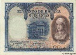 500 Pesetas ESPAGNE  1927 P.073c SUP