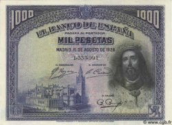 1000 Pesetas ESPAGNE  1928 P.078a SPL