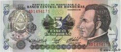5 Lempiras HONDURAS  1985 P.063b NEUF