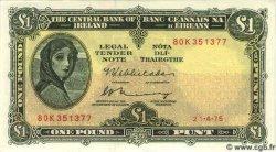 1 Pound IRLANDE  1975 P.064c NEUF