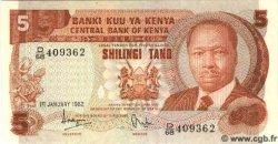 5 Shillings KENYA  1982 P.19 NEUF