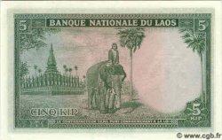 5 Kip LAOS  1962 P.09b pr.NEUF