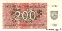 200 Talonu LITUANIE  1992 P.43a NEUF