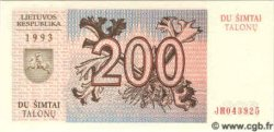 200 Talonu LITUANIE  1993 P.45 NEUF