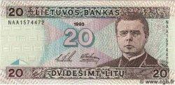 20 Litu LITUANIE  1993 P.57 NEUF