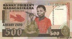 500 Francs - 100 Ariary MADAGASCAR  1993 P.71 NEUF