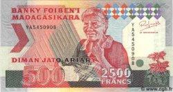 2500 Francs Ou 500 Ariary MADAGASCAR  1993 P.77 NEUF