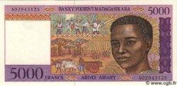 5000 Francs Ou 1000 Ariary MADAGASCAR  1995 P.78 NEUF
