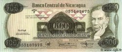 100000 Cordobas sur 500 NICARAGUA  1987 P.149 NEUF