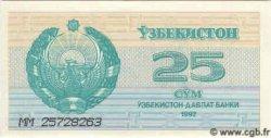 25 Sum OUZBEKISTAN  1992 P.65a NEUF
