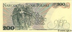 200 Zlotych POLOGNE  1988 P.144c NEUF