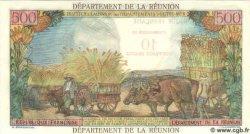 10 NF sur 500 Francs ÎLE DE LA RÉUNION  1971 P.54b NEUF