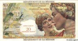 20 NF sur 1000 Francs Union Française ÎLE DE LA RÉUNION  1971 P.55b NEUF
