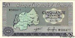 50 Francs RWANDA  1976 P.07c NEUF