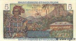 5 Francs SAINT PIERRE ET MIQUELON  1960 P.22 NEUF