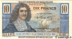 10 Francs SAINT PIERRE ET MIQUELON  1960 P.23 NEUF