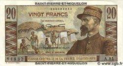 20 Francs SAINT PIERRE ET MIQUELON  1960 P.24 NEUF