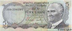 5 Lira TURQUIE  1970 P.185 NEUF