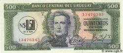 0,50 Nuevo Pesos sur 500 Pesos URUGUAY  1975 P.054 NEUF