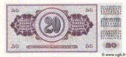 20 Dinara YOUGOSLAVIE  1978 P.088a NEUF
