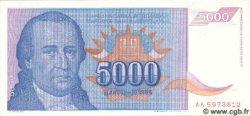 5000 Dinara YOUGOSLAVIE  1994 P.141 NEUF