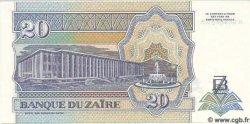 20 Nouveaux Zaires ZAÏRE  1993 P.56 NEUF