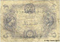 5 Francs TUNISIE  1920 P.01 TTB