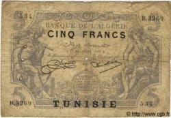 5 Francs TUNISIE  1924 P.01 B