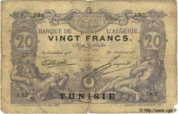 20 Francs TUNISIE  1908 P.02a AB