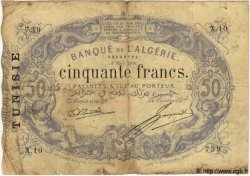 50 Francs TUNISIE  1908 P.03 B à TB