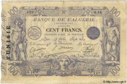 100 Francs TUNISIE  1911 P.04 TB