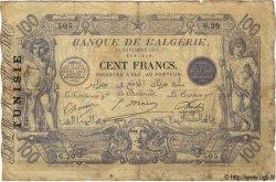 100 Francs TUNISIE  1911 P.04 pr.TB