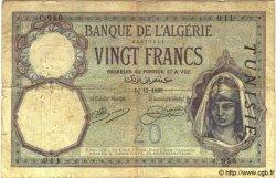 20 Francs TUNISIE  1920 P.06a B+