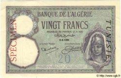 20 Francs TUNISIE  1962 P.06bs pr.NEUF
