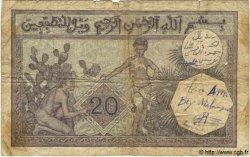 20 Francs TUNISIE  1929 P.06b AB