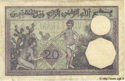 20 Francs TUNISIE  1938 P.06b TB