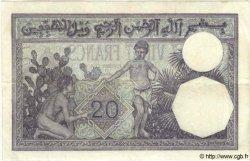 20 Francs TUNISIE  1939 P.06b TTB+ à SUP