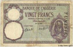 20 Francs TUNISIE  1941 P.06b B+ à TB