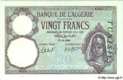 20 Francs TUNISIE  1941 P.06b SUP