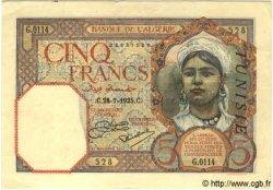 5 Francs TUNISIE  1925 P.08a SPL