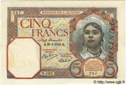 5 Francs TUNISIE  1941 P.08b SPL+