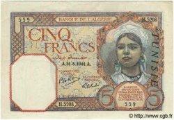 5 Francs TUNISIE  1941 P.08b TTB+ à SUP
